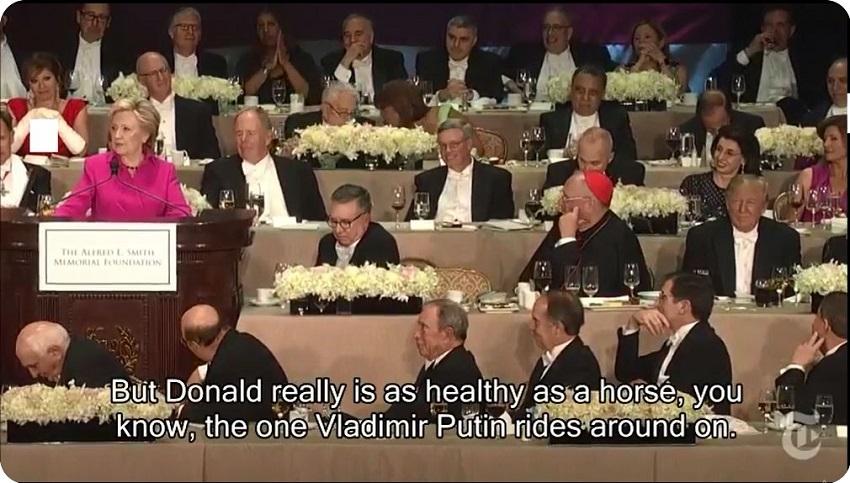 ZABANDAN   Hillary Clinton's speech at the Al Smith dinner
